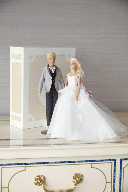 着せ替えミニ衣裳着用バービー(Barbie-2)&ケン(Barbie Tuxedo-1).jpg